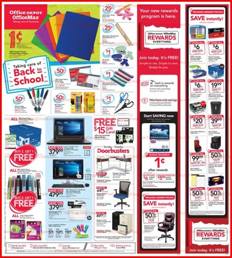 Officemax Ad Officedepot Officemax Ad Scan For 7 9 To 7 15 17 School