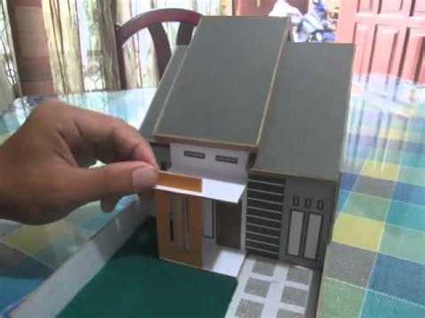 video cara membuat miniatur rumah dari kardus tutorial membuat miniatur rumah minimalis youtube