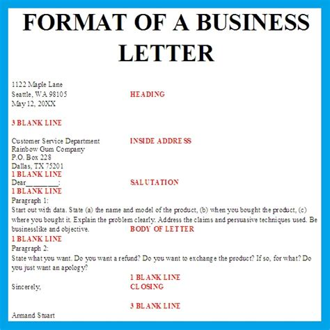 Business letter format example and personal block business letter