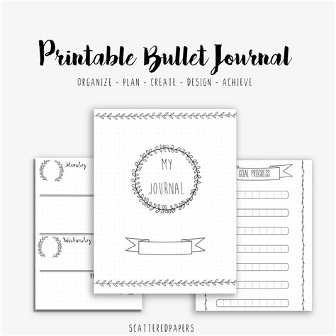 printable bullet journal guide printable bullet journaling pages