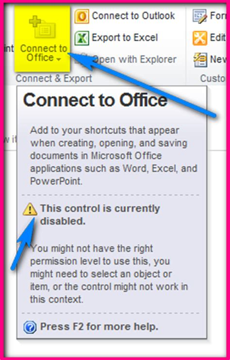 Connect To Office by Connect To Office Disabled In Sharepoint 2010 Amol Ghuge