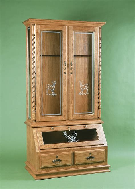 Gun Cabinet by Wooden Gun Cabinets Plans Pdf Woodworking