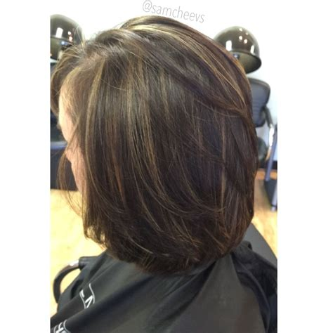 medium hairstyles with partial highlights highlights for short hair bob haircut with dark brown and