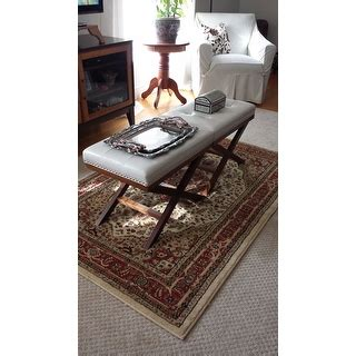 and walnut traditional x leg bench ottoman and walnut traditional x leg bench ottoman