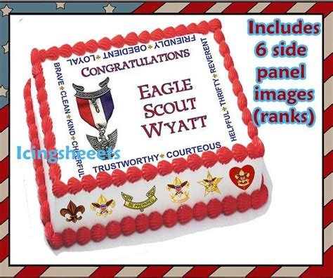 Eagle Scout Cake Decorations by Eagle Scout Boy Scout Ranks Edible Icing Custom Cake
