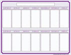 Two Week Calendar Template Free by Two Week Blank Calendar 2017 Calendar Printable