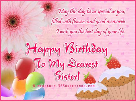 Happy Birthday Wishes Messages In Birthday Wishes For Sister That Warm The Heart