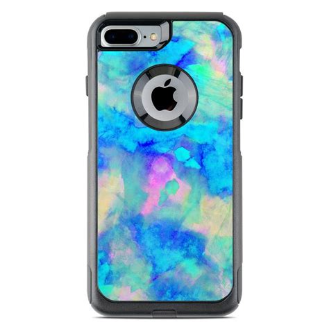 otterbox commuter iphone   case skin electrify ice blue  amy sia decalgirl