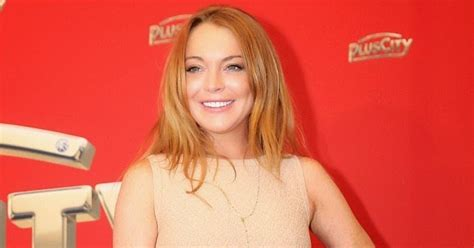 chatter busy lindsay lohan stuns in alaia dress for white