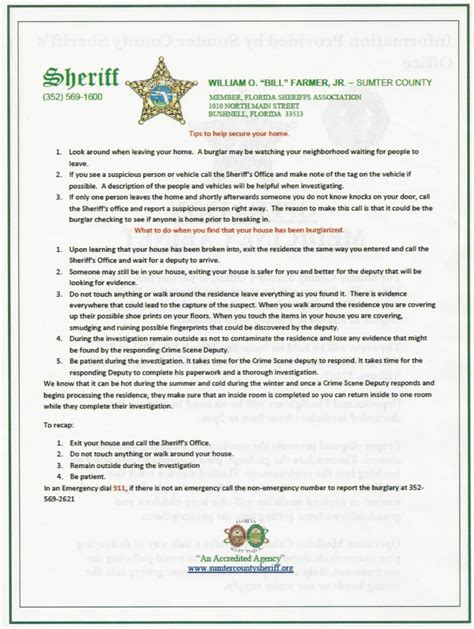 tips to help secure your home by sheriff farmer the vha