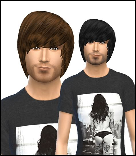 emo hairstyles sims 4 sims 4 hairs simista david sims emo hairstyle for male