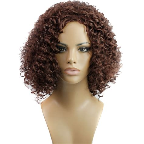 trendy hair styles for wigs 2015 women synthetic hair none lace wigs natural wigs noodles curly short fashion hairstyle can