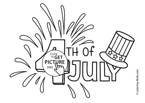 4th Of July Color Pages Printable Coloring Pages For The Usa Hat Coloring Pages Usa