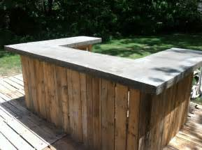 patio bars plans pallet wood bar tops and bar on pinterest