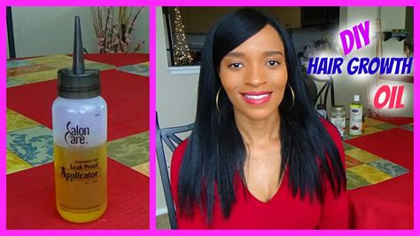 diy relaxed hairstyles diy hair growth oil for long healthy relaxed hair youtube