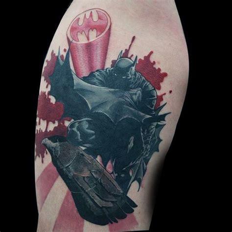 batman punch tattoo 100 batman tattoos for men superhero ink designs