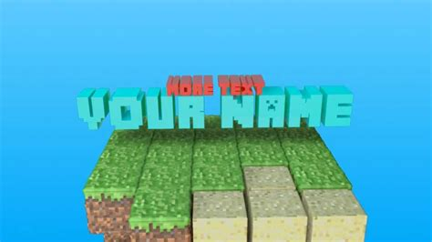 minecraft intro templates for android free minecraft intro template 2 youtube