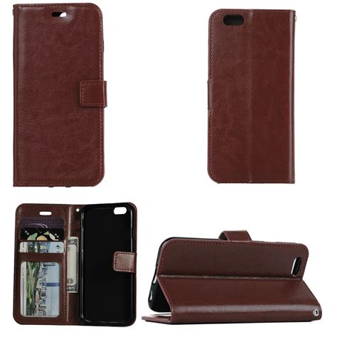 For Iphone 5 5s Flip Wallet Cover Leather Brown Black for apple iphone se 5s 6s 7 plus flip wallet leather