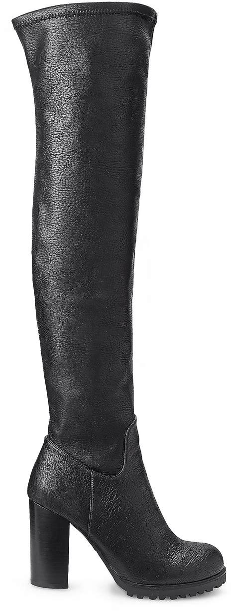 Overknee Stiefel Schwarz overknee stiefel schwarz g 252 nstig kaufen kosten