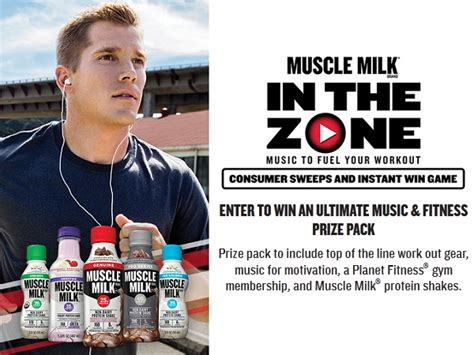 Muscle Milk Instant Win - muscle milk in the zone sweepstakes and instant win game sweepstakesbible