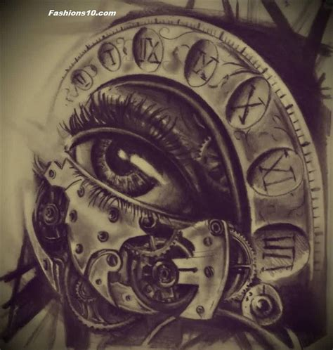 tattoo eye with clock clock eye tattoox http www fashions10 com 15 wonderful