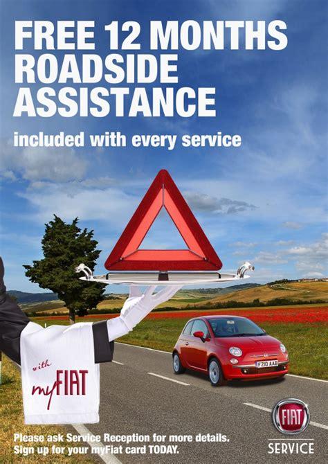 fiat service customers benefit from free allianz roadside