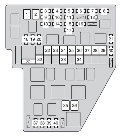 2012 yaris fuse box diagram