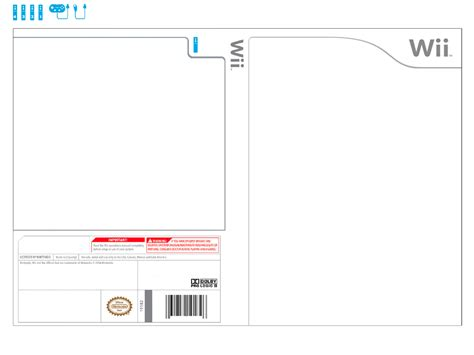 wii boxart template front and back wiistyle