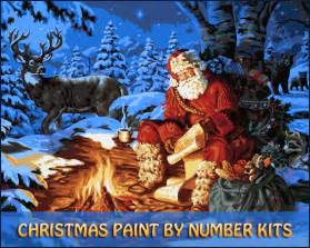 Nautical Themed Homes - christmas paint number kits beautiful paint by number kits for christmas