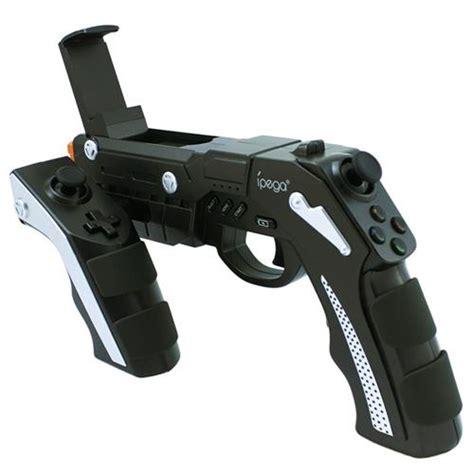 Ipega Phantom Shox Pistol Gun Gamepad Smartphone Android Iphone Fps ipega 9057 phantom shox blaster wireless bluetooth 3 0 controller