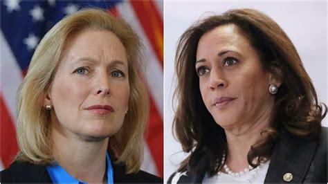 kirsten gillibrand vs donald trump 2020 kamala harris and kirsten gillibrand will lead democrats