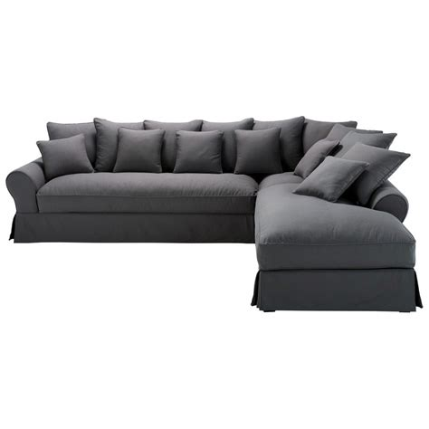 Merveilleux Canape Lit Chambre Ado #2: Canape-d-angle-droit-6-places-en-coton-gris-ardoise-bastide-1000-8-40-125213_1.jpg