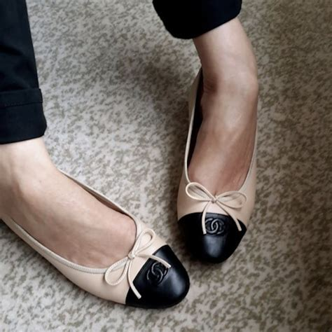 chanel ballet flat shoes chanel ballerinas pinteres
