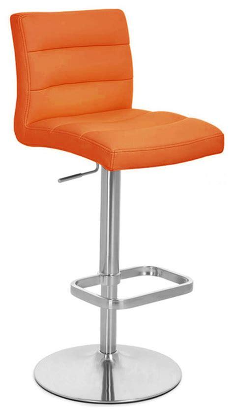 modern orange bar stools orange lush adjustable height bar stool contemporary