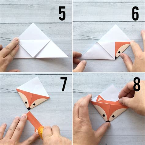Origami Corner Bookmark - diy woodland animals origami bookmarks print fold it