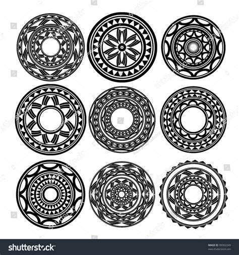 maori polynesian style tattoo stock vector 99302249
