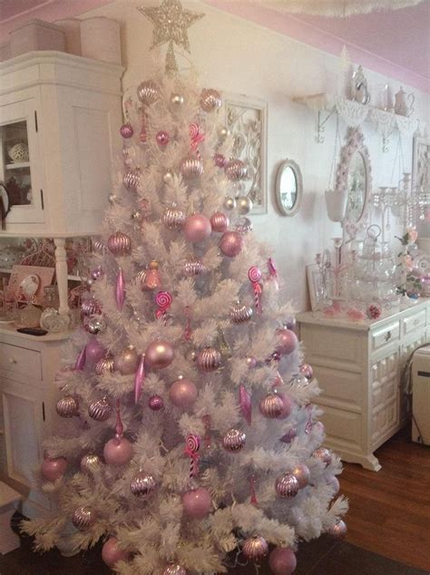 good ideas for shabby chic christmas tree decoration pink christmas tree pink christmas and