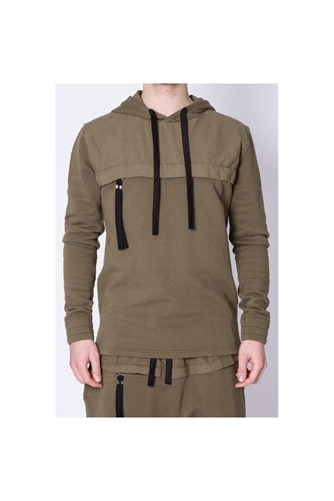 Hoodie Zipper Marine One Brothersapparel blood region zip pocket hoodie khaki intro