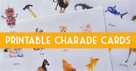 printable charades cards what am i playing charades literacy game cards and