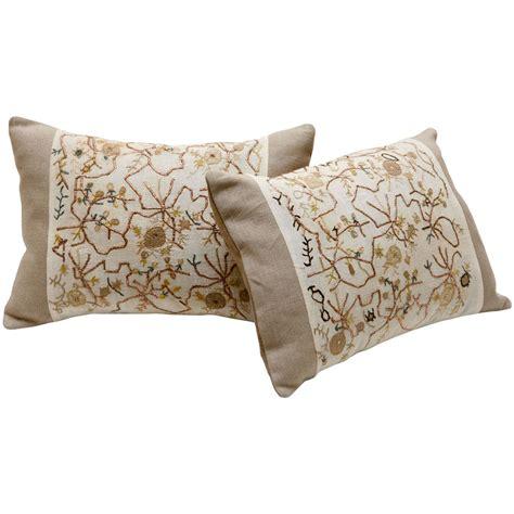 pillow ottoman ottoman embroidery pillow at 1stdibs