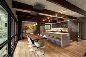 Prefabricated Kitchen Island Mid Century Modern Renovation Midcentury Kitchen