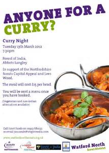9th north watford scout group 187 anyone for a curry night