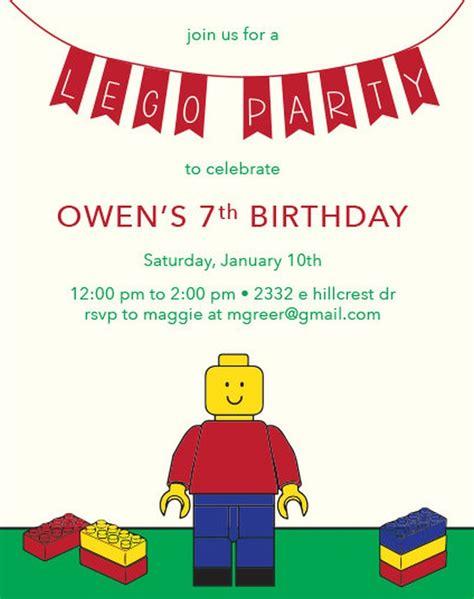 Lego Birthday Invitation Exle 5 Invitations Online Lego Birthday Invitation Template