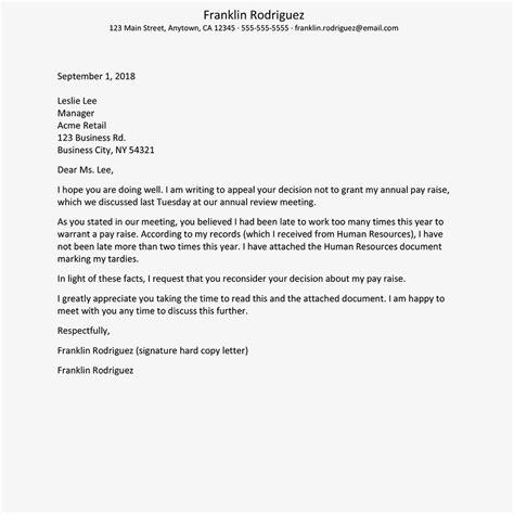 write  appeal letter