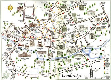 map uk cambridge map cambridge tourist information