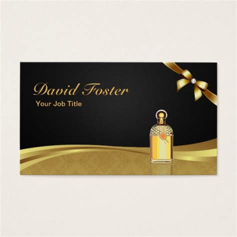 Perfume Shop Gift Card - cologne perfume bottle elegant black gold damask business card zazzle com