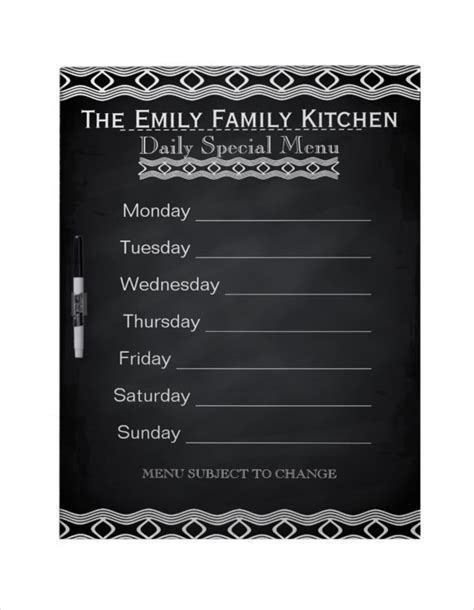 Weekly Menu Template 20 Free Psd Eps Format Download Free Premium Templates Personalized Menu Template