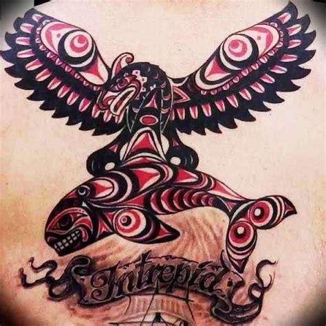tribal orca tattoo american thunderbird thunderbird orca