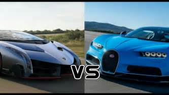 Vs Lamborghini Vs Bugatti Bugatti Chiron Vs Lamborghini Veneno Racing Comparison