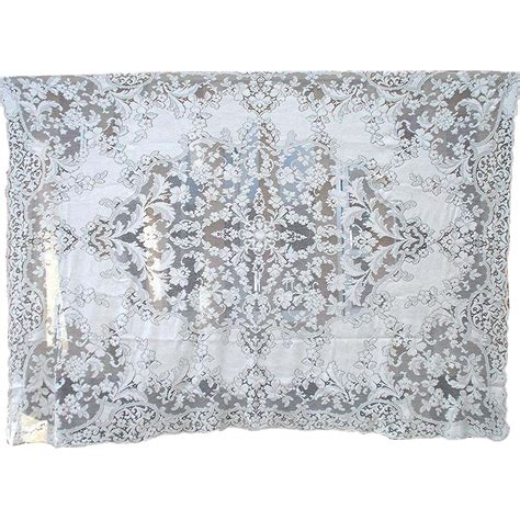 Quaker Lace Tablecloths Shop Collectibles Ecru Quaker Lace Floral Tablecloth 88 By 65 Inches From
